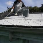 外壁塗装工事続いての工程は・・・・塗装で最も大事な養生と下塗り工程です!