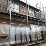 中古物件購入木造築30年以上その間前人者に依る1階水周が増今回の購入後のリフォームは外壁の全体塗装と1階床下断熱材改修工事です